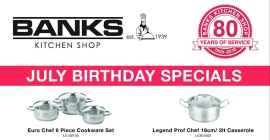 Banks Kitchen Shop 80th Birthday Sale