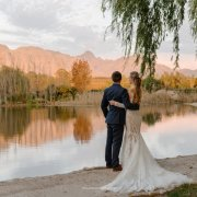 wedding dress, winelands