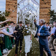 bride and groom, bride and groom, bride and groom, confetti - LAFRIQUE Photography