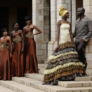 african, bridesmaid dress, groom, wedding dress - Shifting Sands