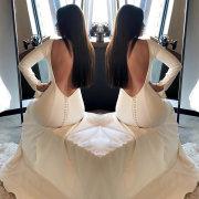 open back, open back wedding dress, wedding dresses, wedding dresses, wedding dresses - Sew Couture