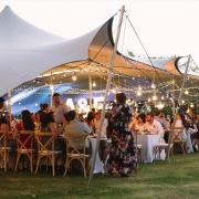 bedouin tent, fairy lights - Cape Tents