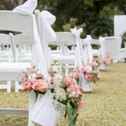 chair, flowers