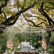 fairy lights, hanging decor, naked bulbs, outdoor wedding - NConcepts and Designs