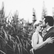 black and white, bride and groom - Collisheen Estate