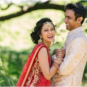 bride and groom, hairstyle, headpiece, sari, suit - Collisheen Estate