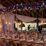 floral arrangements, geometric hanging decor, hanging decor, floral design - Collisheen Estate