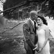 black and white, bride and groom, suit, veil, wedding dress - Collisheen Estate