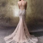 beads, mermaid, pink, wedding dress - Weddings By Design