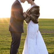 bride and groom, bride and groom, fur bolero - Weddings By Design