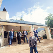 groom, suit, groomsmen - Katie Mayhew Photography
