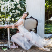 decor, open back wedding dress, wedding dress - Katie Mayhew Photography