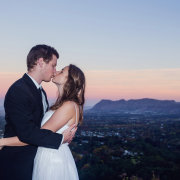 bride and groom, feature shot, kiss