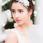 makeup, headpiece, bridal hair, hair accessories, hairstyle - Katie Mayhew Photography