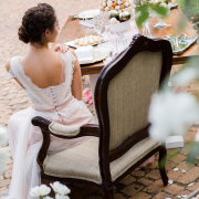 decor, chair, hairstyle, wedding dress - Katie Mayhew Photography