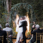 bride and groom, bride and groom, bride and groom, ceremony, first kiss, forest ceremony - Randlehoff Media