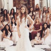 bride and bridesmaids - De La Vida Bridal Couture