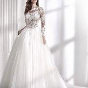 lace, wedding dress, wedding dress, white, long sleeves