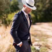 hat, suit