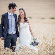 suit, wedding dress, bouquet, bride and groom