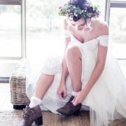headpiece, wedding dress, wedding shoes, brides shoes - Hendrik Steytler Photography