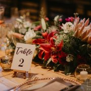 floral centrepiece, wedding stationery - Royal Blu