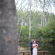 bride and groom, river, venue
