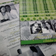 green, wedding invitation, wedding stationery - Sue\