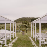 floral arch, outside ceremony - Events & Tents