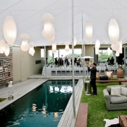 pool, reception, marquee, tent