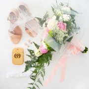 bouquet, bridal, shoes, wedding