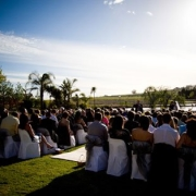 outside ceremony, outside wedding - Skilpadvlei Wine Farm