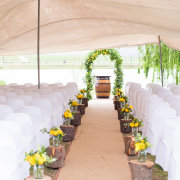 decor, outdoor ceremony - Skilpadvlei Wine Farm