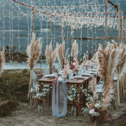 fairy lights, outdoor reception, wedding decor - Mosaic Lagoon Lodge