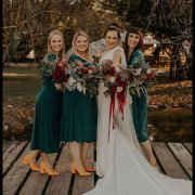 bouquets, bride and bridesmaids - Anna Botany