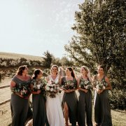 bride and bridesmaids - Anna Botany