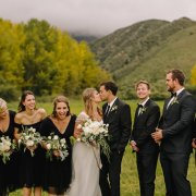 bridal party, kiss, kiss, kiss, wedding party - Anna Botany
