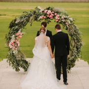 floral arches, outdoor ceremony - Anna Botany