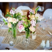 decor, floral accents, table setting