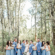bridal party, forest - RDK Photography