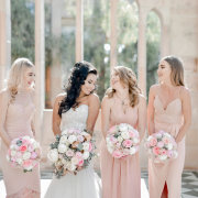 bouquets, bride and bridesmaids, bridesmaids dresses - RDK Photography