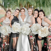 bouquets, bride and bridesmaids - RDK Photography