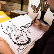 entertainment, favours - Caricatures by Martinus