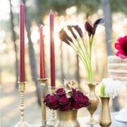 candles, flowers
