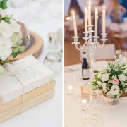 candles, flowers, table
