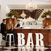 bar, bar services, chandeliers, signage, wedding venue, wedding venues - Loch Lynne Wine Estate