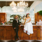 bar, bar services, bride and groom, bride and groom, bride and groom, chandeliers, floral decor, flowers - Loch Lynne Wine Estate