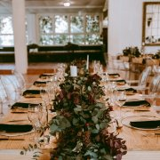 floral centrepieces, floral runner, greenery - Charm & Perfection Planning