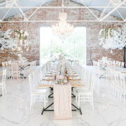 chandeliers, hanging decor, wedding decor - Charm & Perfection Planning
