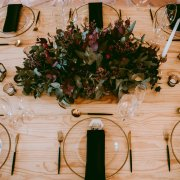 floral centrepieces, greenery, table settings - Charm & Perfection Planning